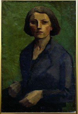 """Elisabeth Karlinsky (1904-1994), """"Selvportræt"""", 1932"""